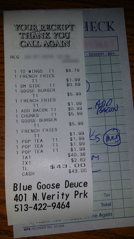 3 deuces restaurant menu